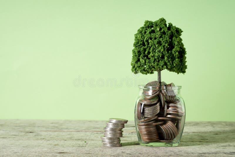 Concetti crescenti di risparmio di affari dei soldi immagini stock libere da diritti