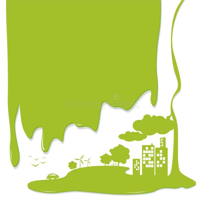 Concetti di ecologia illustrazione di stock