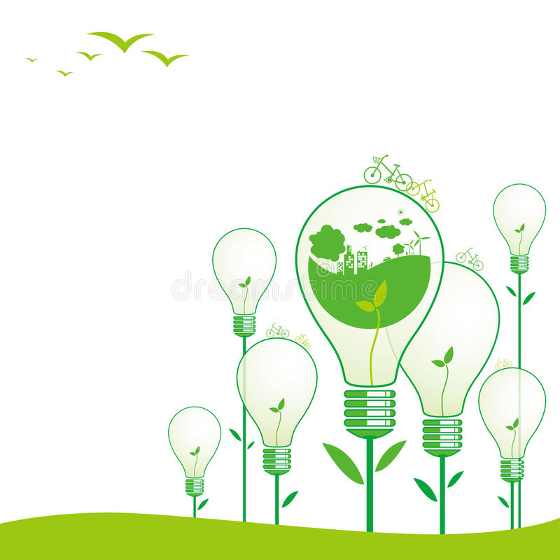 Concetti di ecologia royalty illustrazione gratis