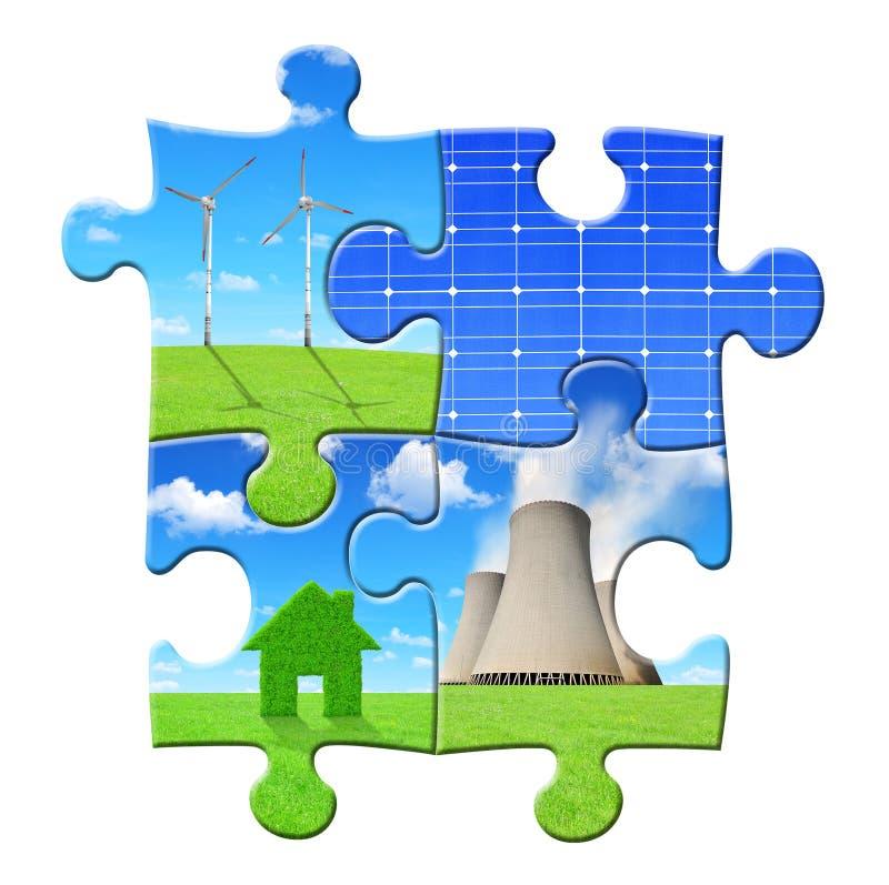 Concetti di energia dal puzzle immagine stock