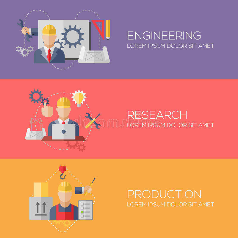 Concetti di progetto piani per l'organizzazione, ricerca illustrazione di stock