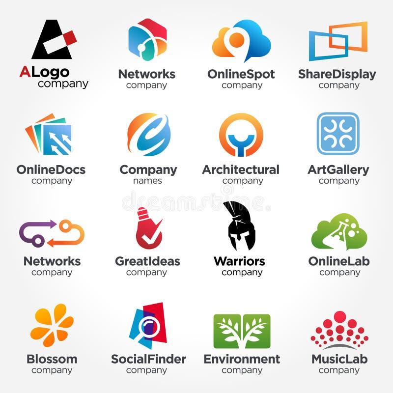 Concetti minimi delle collezioni di progettazione di logo illustrazione creativa di vettore di progettazione royalty illustrazione gratis
