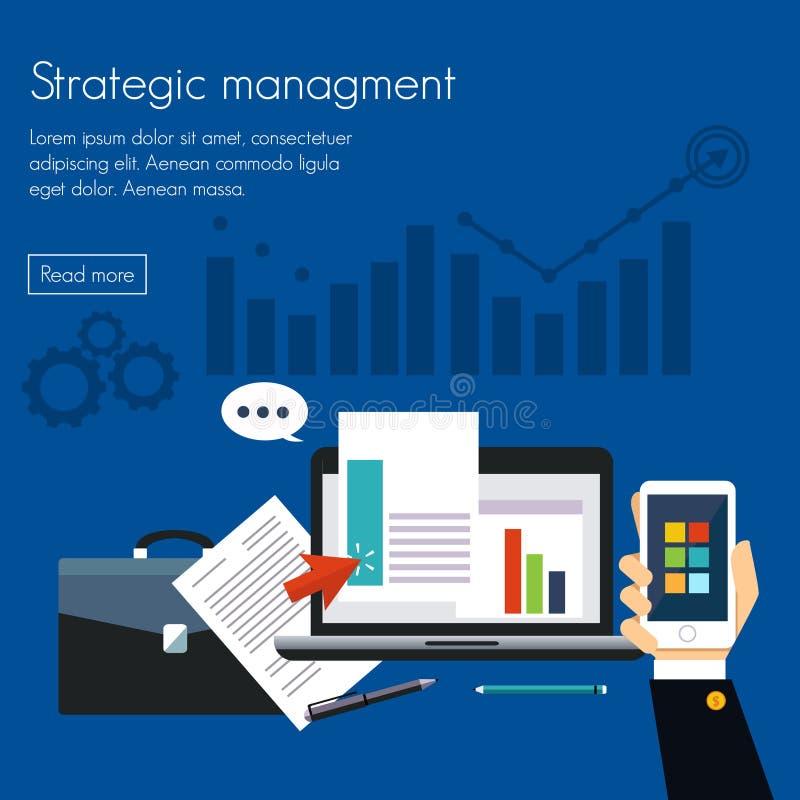 Concetti strategici della gestione per le insegne di web royalty illustrazione gratis