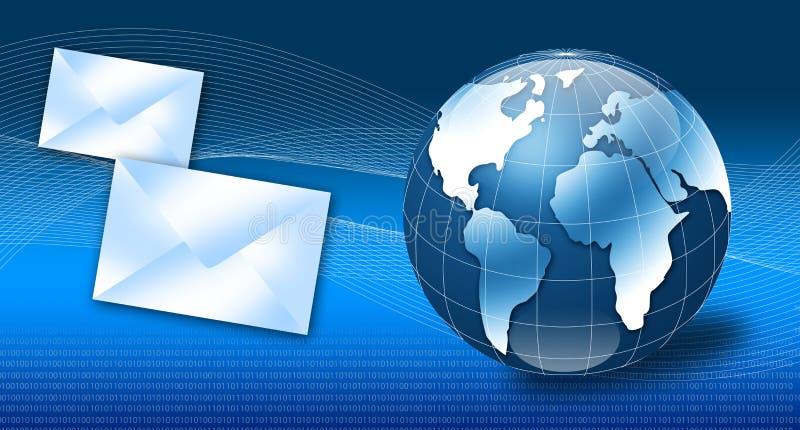 Concetto 3d del email di Internet illustrazione di stock