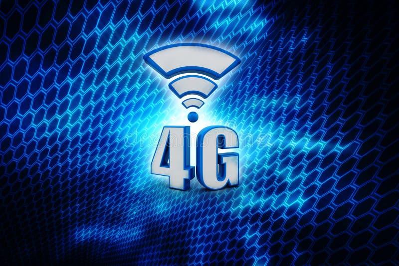 Concetto ad alta velocità cellulare di affari della connessione dati di telecomunicazione mobile: technol senza fili metallico bl royalty illustrazione gratis