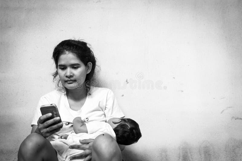 Concetto adolescente di problema, problema sociale fotografia stock