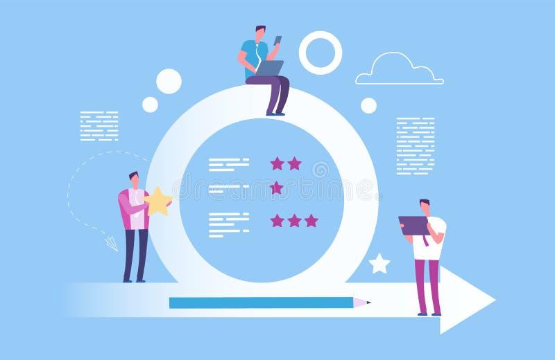 Concetto agile Illustrazione metodoligy agile di vettore Efficace organizzazione del processo di raggiungimento degli scopi illustrazione vettoriale