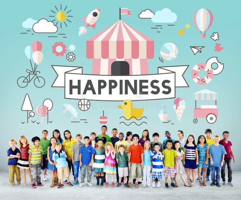 Concetto allegro della gioventù energetica dei bambini dei bambini fotografia stock