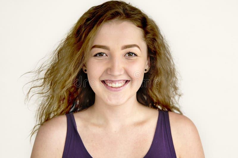 Concetto allegro sorridente della giovane donna immagini stock libere da diritti