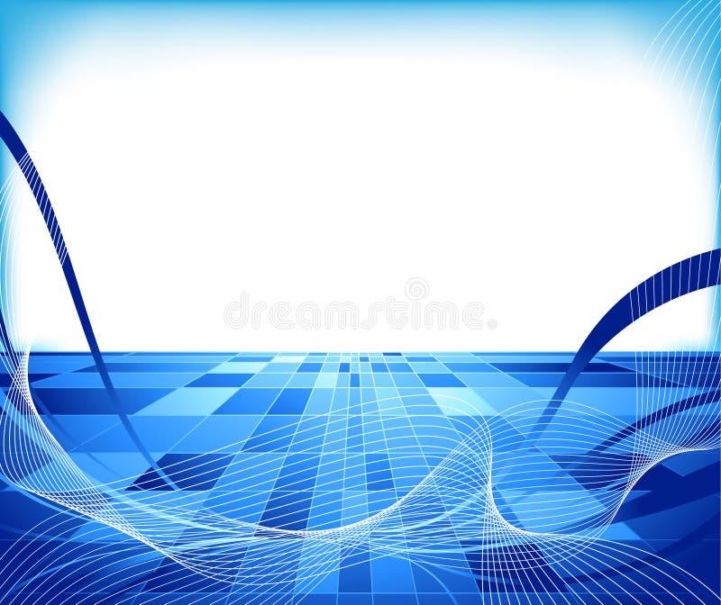 Concetto alta tecnologia astratto - allineato illustrazione vettoriale
