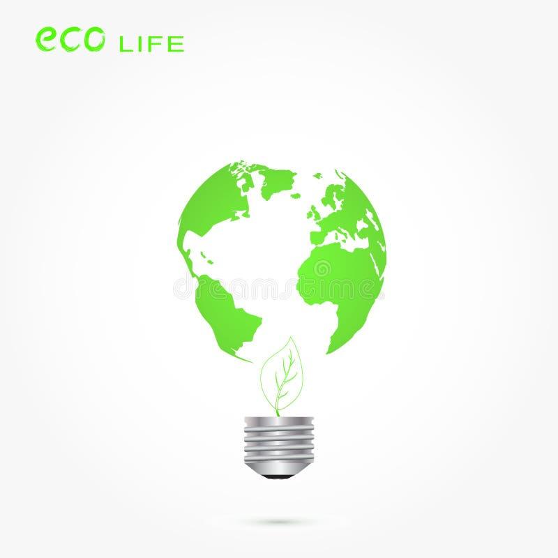 Concetto ambientale di ecologia di energia verde illustrazione vettoriale