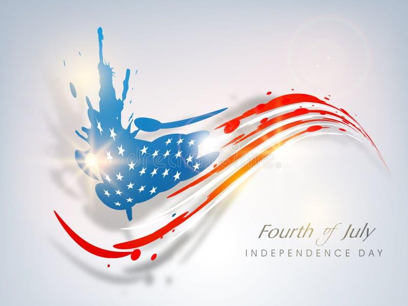 Concetto americano di festa dell'indipendenza. illustrazione di stock