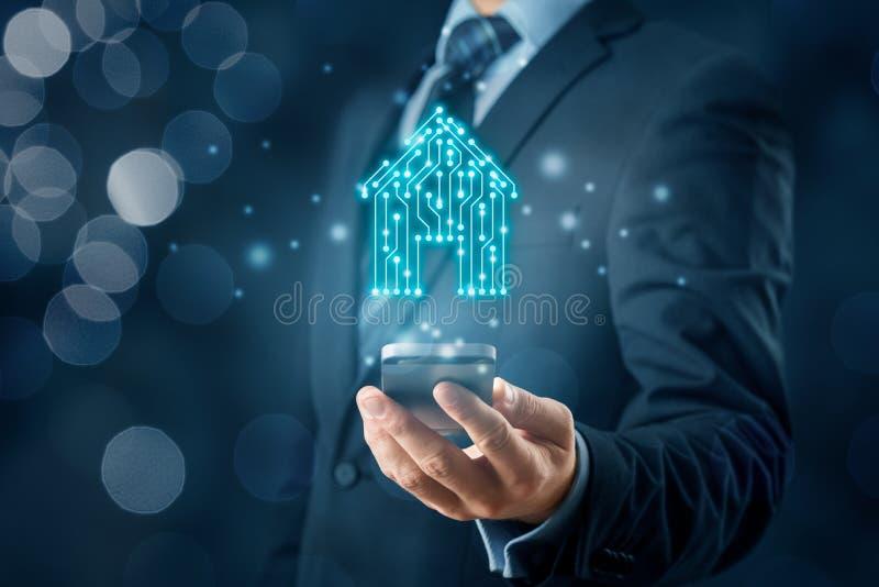 Concetto app per la casa intelligente immagini stock