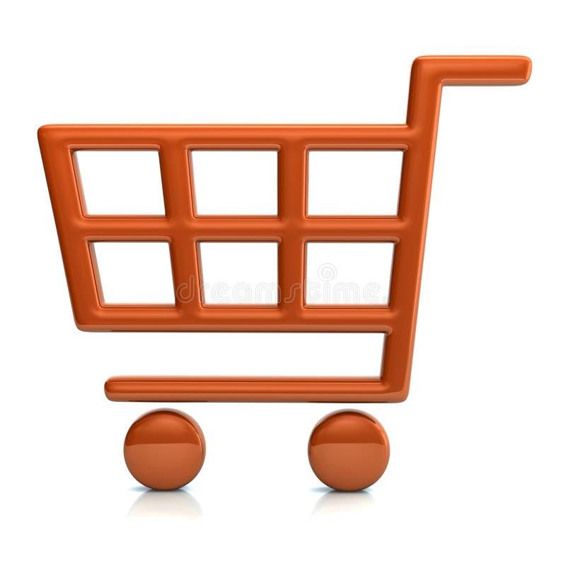 concetto arancio del carrello dell'illustrazione 3D illustrazione di stock