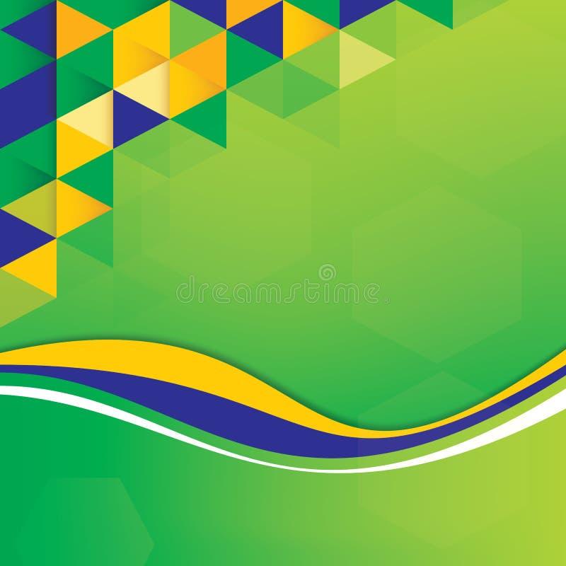 Concetto astratto della bandiera del Brasile del fondo royalty illustrazione gratis