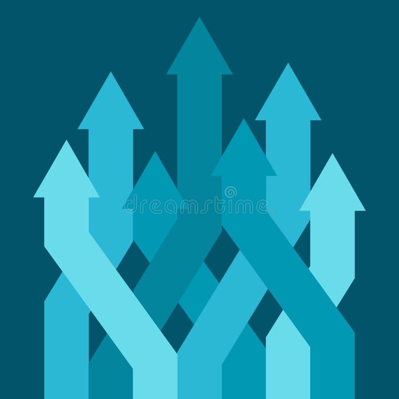 Concetto astratto di affari: successo, crescita o progresso royalty illustrazione gratis