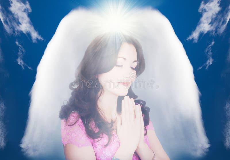 Concetto astratto di angelo custode fotografia stock libera da diritti