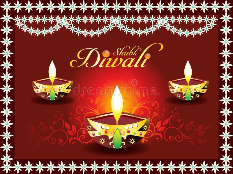 Concetto astratto di diwali con deepak royalty illustrazione gratis