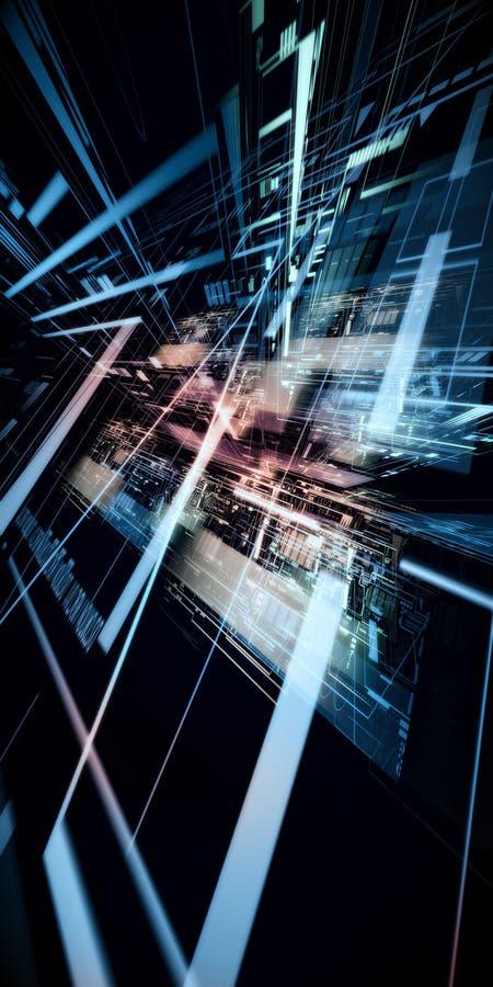Concetto astratto di tecnologia complessa
