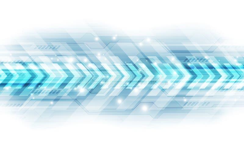 Concetto astratto di tecnologia di velocità Priorità bassa dell'illustrazione di vettore illustrazione di stock