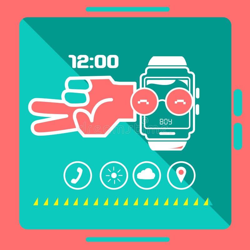 Concetto astuto dell'orologio immagini stock