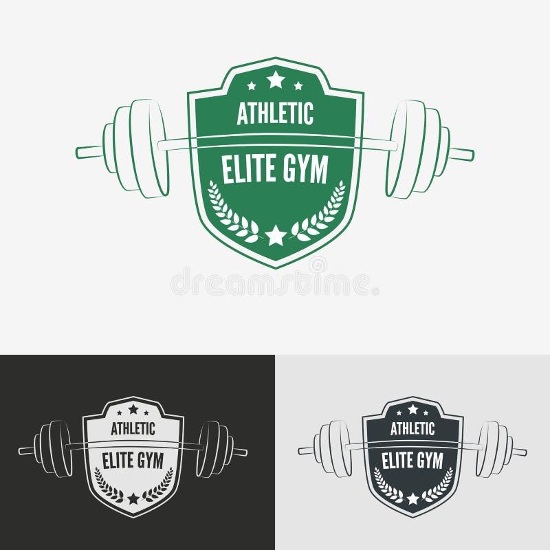 Concetto atletico di logo della palestra royalty illustrazione gratis