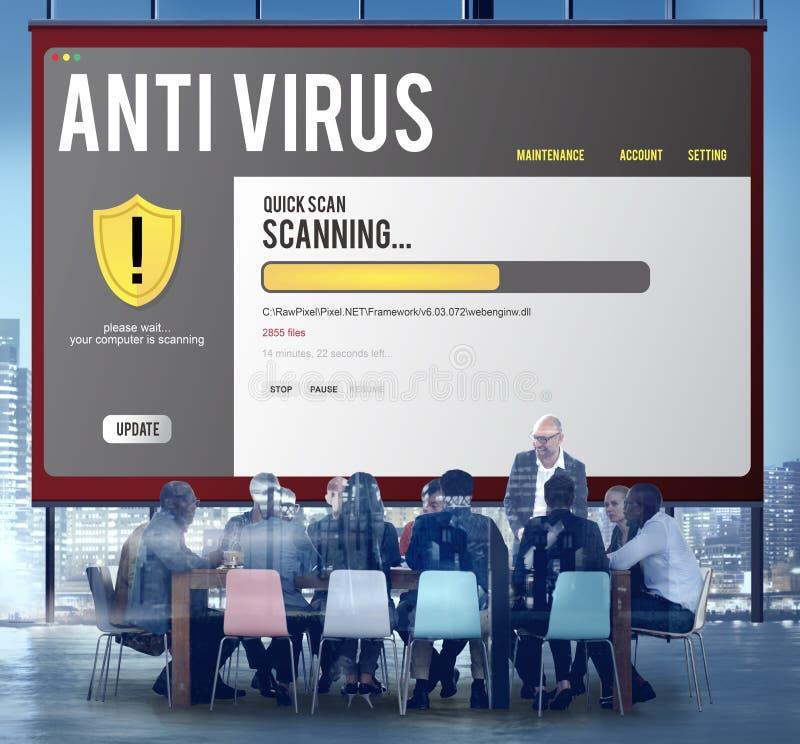 Concetto attento di sicurezza di protezione del pirata informatico della parete refrattaria di antivirus immagine stock