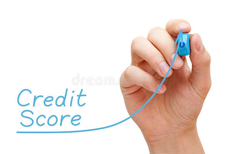 Concetto aumentante del grafico del punteggio di credito fotografia stock libera da diritti