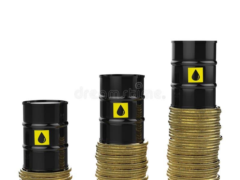 Concetto in aumento di prezzo del petrolio royalty illustrazione gratis