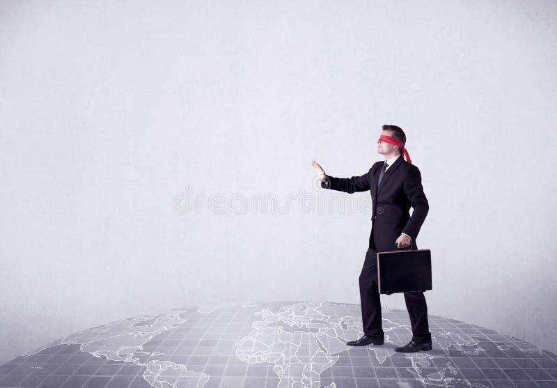 Concetto bendato dell'uomo d'affari immagine stock