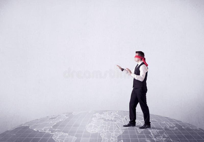 Concetto bendato dell'uomo d'affari fotografie stock