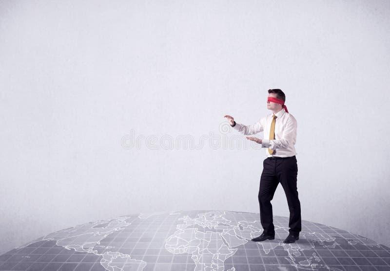 Concetto bendato dell'uomo d'affari fotografie stock libere da diritti
