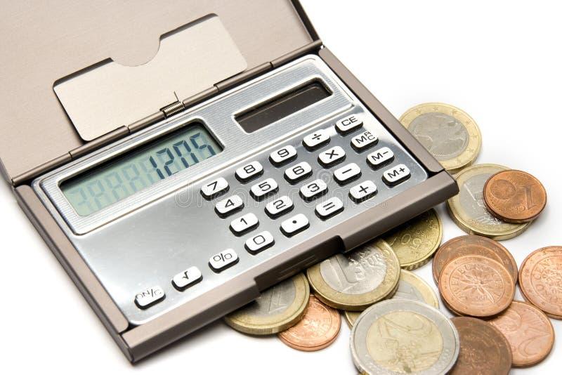 Concetto calcolatore dei soldi immagine stock