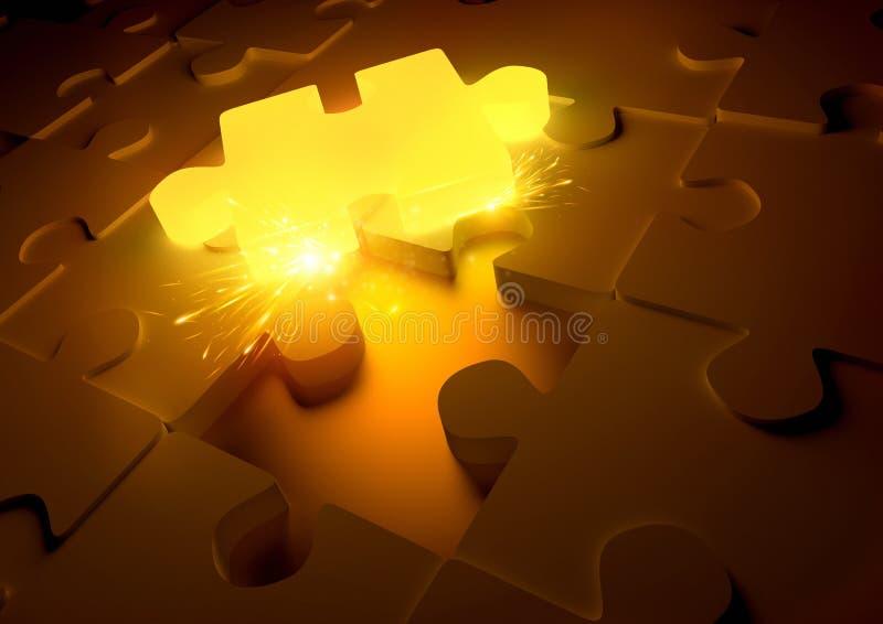 Concetto caldo di puzzle immagini stock libere da diritti