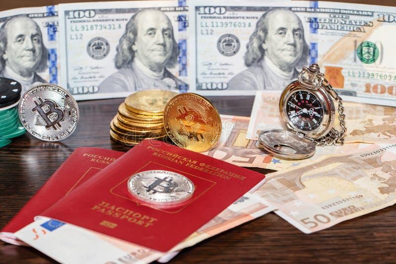 Concetto: cambiamenti dei soldi col passare del tempo immagine stock
