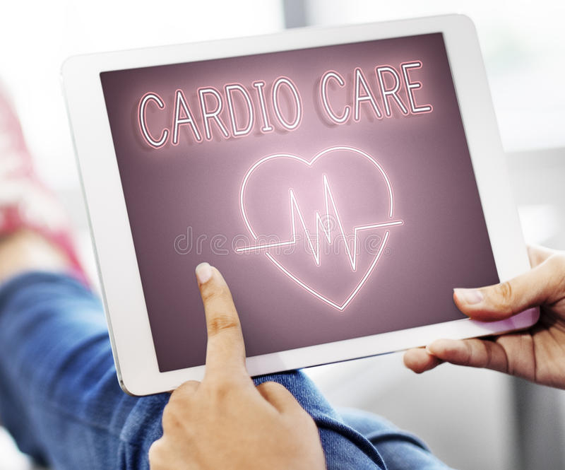 Concetto cardiaco del grafico del cuore della malattia cardiovascolare immagini stock libere da diritti