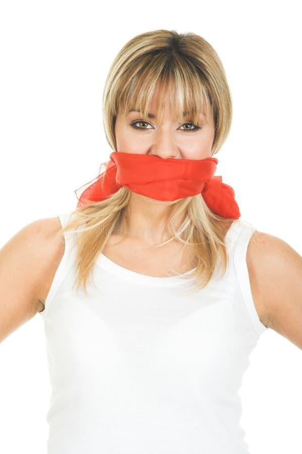 Concetto censurato - libertà di parola fotografia stock libera da diritti