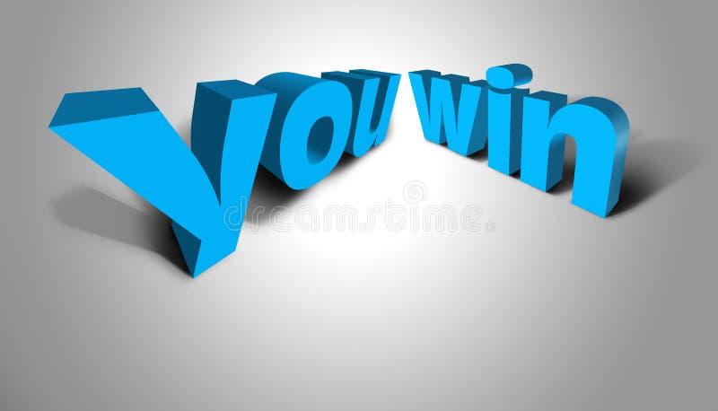 concetto che del testo 3D vincete illustrazione vettoriale
