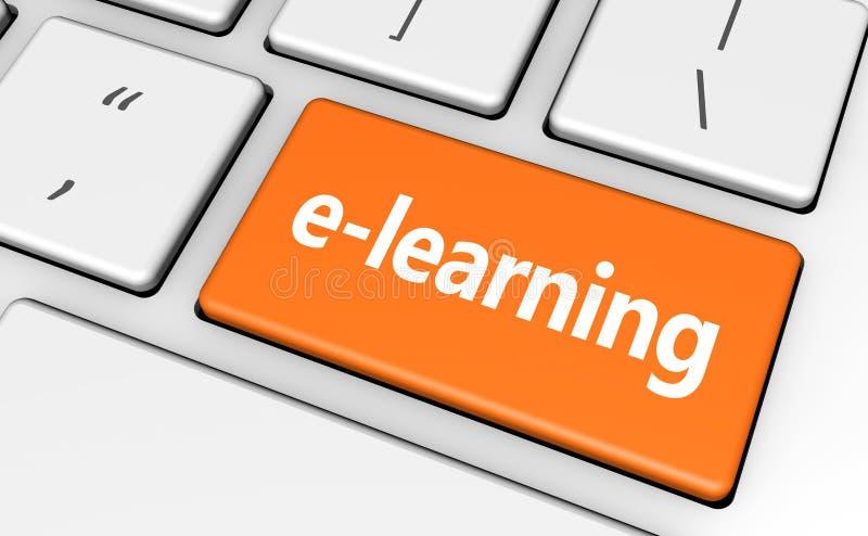 Concetto chiave dell'insegna di web di Elearning illustrazione di stock