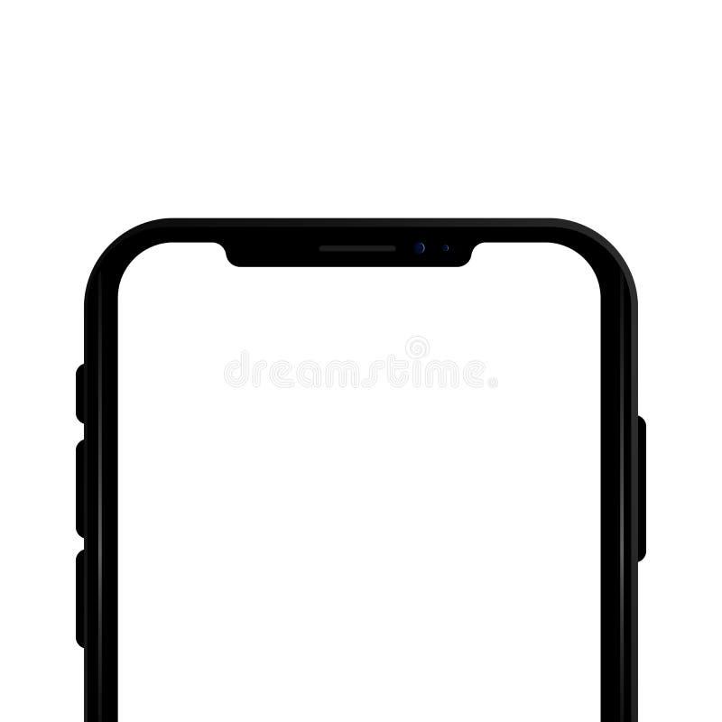 Concetto colorato del telefono moderno con i modelli mobili della macchina fotografica doppia su fondo trasparente Derisione su d fotografia stock libera da diritti
