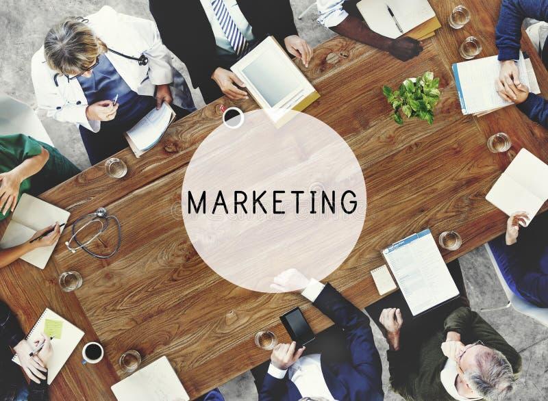 Concetto commerciale di visione di pubblicità di affari di vendita immagine stock