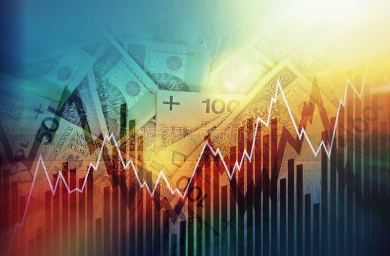 Concetto commerciale di zloty polacca illustrazione di stock