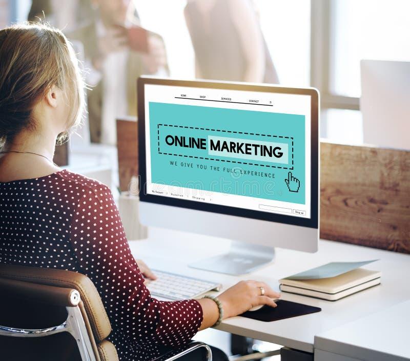 Concetto commercializzante online di Digital del sito Web del homepage fotografie stock libere da diritti