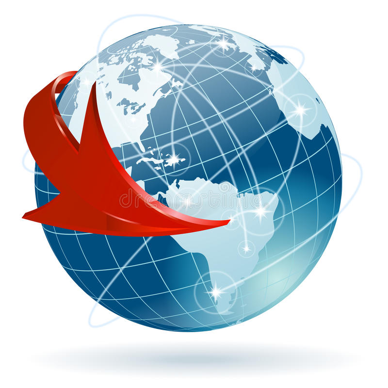 Concetto - commercio globale illustrazione di stock