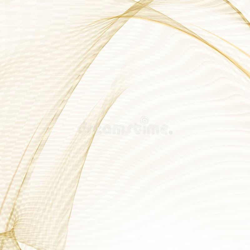 Concetto complesso di sanità Linee dorate brillanti sopra fondo bianco illustrazione di stock