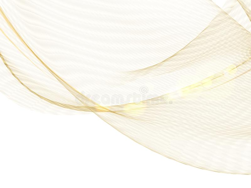 Concetto complesso di sanità Linee dorate brillanti sopra fondo bianco Progettazione di cura di pelle di bellezza sopra i poligon illustrazione di stock