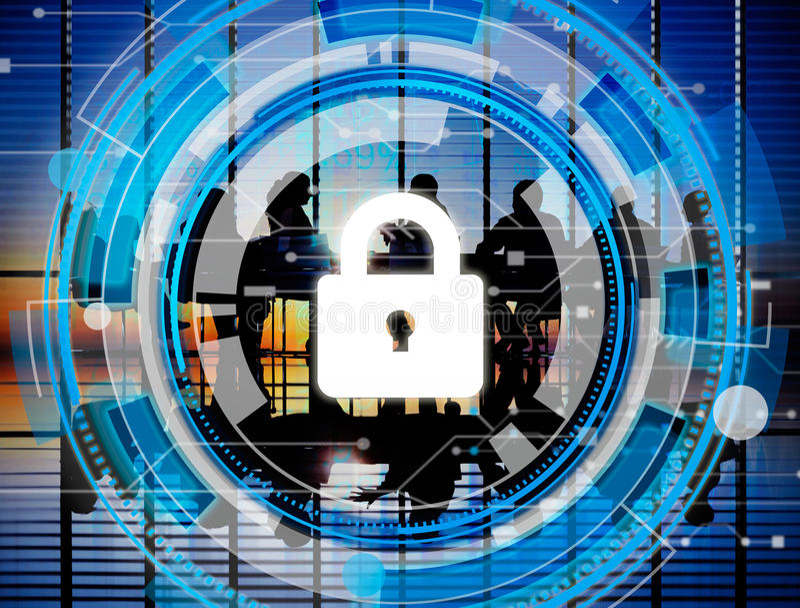 Concetto corporativo di sicurezza di sicurezza di protezione di affari immagini stock
