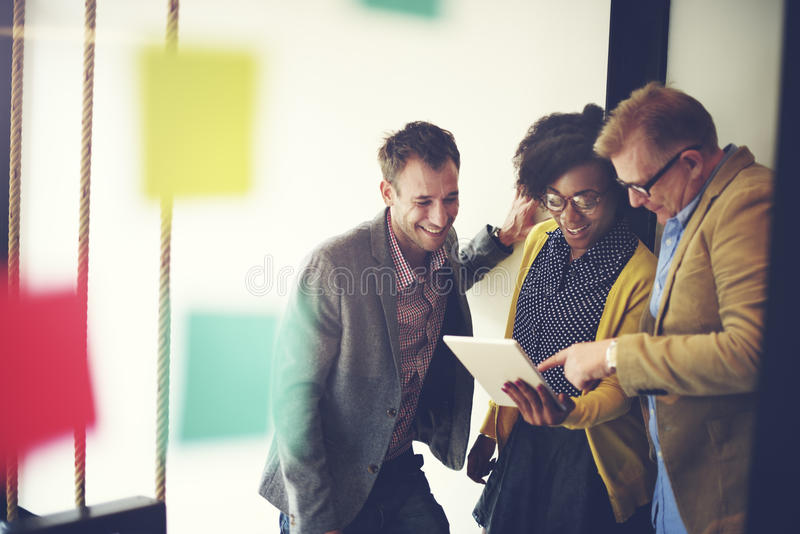 Concetto corporativo di Team Casual Break Discussion Ideas fotografia stock
