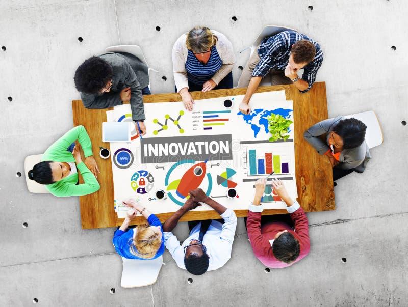 Concetto creativo del lancio di aspirazione di idea dell'innovazione fotografia stock