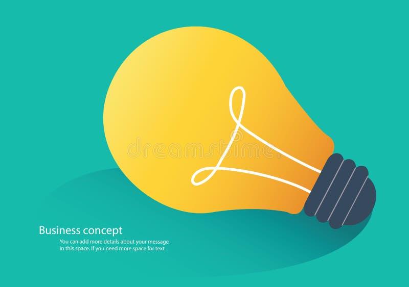 Concetto creativo di idea, illustrazione di vettore dell'icona della lampadina royalty illustrazione gratis